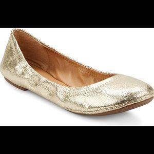 Lucky Brand Metallic Gold Elysia Flats